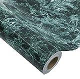 Glow4u - Papel de contacto autoadhesivo de mármol de color azul oscuro, resistente al agua, con aspecto de granito, para cocina, encimera, tablero trasero, estante de mesa, 24 x 196 pulgadas