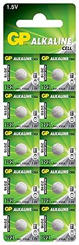 GP Batteries Alkaline Button 192 Batteries (Pack of 10)