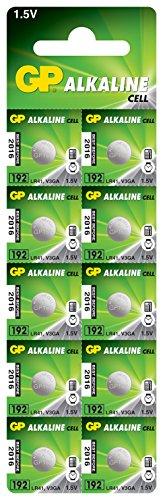 GP - Pilas de botón alcalinas LR41, 192 / 10 unidades