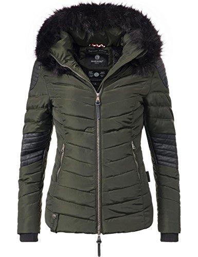 Marikoo Damen Winter Jacke Steppjacke Mamba (vegan hergestellt) Grün Gr. XL