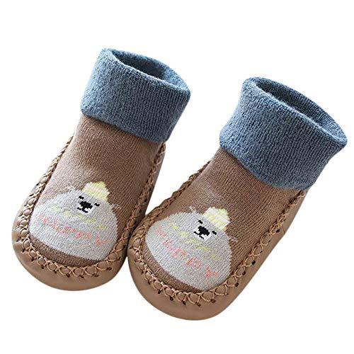 Mitlfuny Unisex Babyschuhe Mädchen Jungen Anti-Slip Socken Slipper Stiefel,Kleinkind Infant Baby Jungen Mädchen Cartoon Tier Anti-Rutsch-Schuhe gestrickte warme Socken