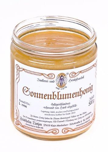 Sonnenblumenhonig 500g – mittelkräftiges Aroma, naturbelassen (von Imkerei Nordheide)