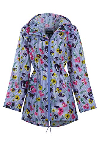 shelikes Womens Ladies Showerproof Lightweight Festival Fashion Parka Hooded Raincoat Size 8 to 20