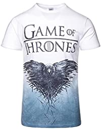 Game of Thrones Official T Shirt Crow Sublimation White All Sizes