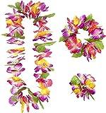 Widmann 9136W - Set Hawaii 3-tlg. - Halskette, Stirnband, Armband im typischen Blumen Stil 3 Stk.