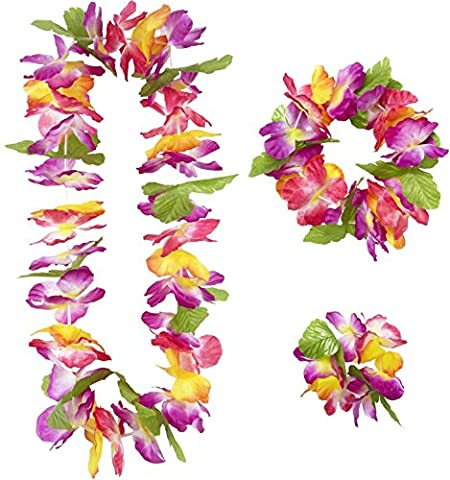 Widmann 9136W–Maui Hawaii-Set bestehend aus Halskette/Krone/Armband, in
