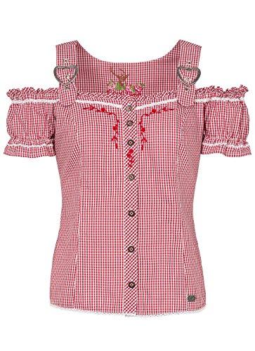 Spieth & Wensky - Damen Trachten Bluse Kariert in Verschiedenen Farben, Galanta (300410-0948), Größe:48, Farbe:Rot (2013)