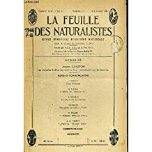 LA FEUILLE DES NATURALISTES. REVUE MENSUELLE D HISTOIRE NATURELLE. BULLETIN DE LA SOCIETE DES NATURALISTES PARISIENS. N°7-8. JUILLET-AOUT 1946. JACQUES CARAYON LES MALADIES A VIRUS DES PLANTES. LEUR TRANSMISSION PAR LES INSECTES / J. LHOSTE CAGE D ELEVAGE