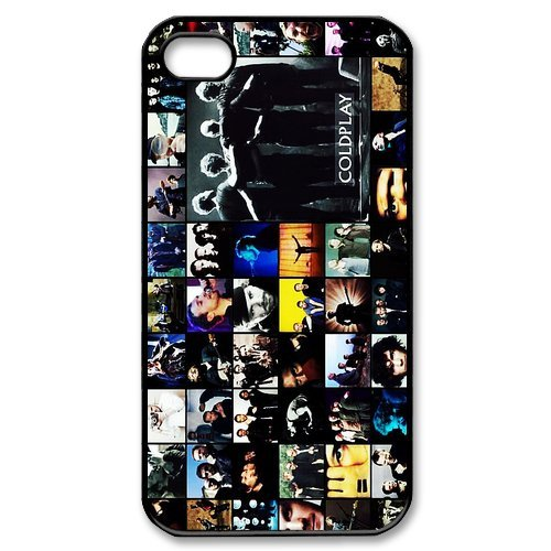 fayruz- 5S Cas, Coldplay Coque en TPU en caoutchouc pour Apple iPhone 5/5S Coque rigide b-i5W295