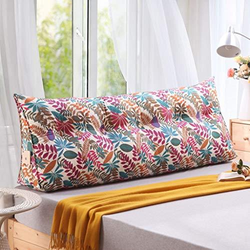 Dreieck Unterstützung Nachttisch Kissen - Baumwolle Canvas Dreieck zurück Perle Baumwolle Füllstoff Sofa Kissen Bay Fenster Kissen Taille Kissen waschbar (Farbe : D, größe : 180 * 50cm) -