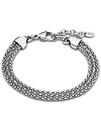 Lotus Style Pulsera para mujer de acero inoxidable plata señora Basic-Kollektion JLS1815-2-1