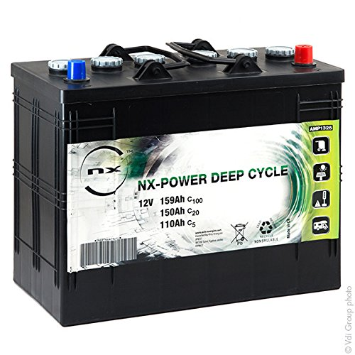 NX - Batteria Piombo Aperto NX Power Deep Cycle DUAL 12V 110Ah Auto