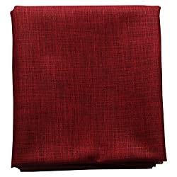 Vintage Mens Cotton Shirt Fabric Unstitched (Red)