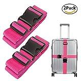 Verstellbare Koffergurte Koffergurte Taschengurte Reisezubehör 2/4 Packs (Rose rot)