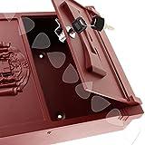 Generic Burgunderrot Briefkasten Mailbox aus Aluminium abschließbar, Wandmontage, < 1/2865* 1>