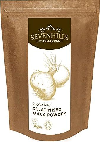 Sevenhills Wholefoods Maca-Pulver Gelatiniert Bio 250g (Mangan 250 Tabletten)