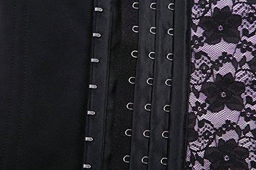 FeelinGirl Damen Corsage Korsage Korsett Waist Cincher mit 4 Plastikstäbchen Grau