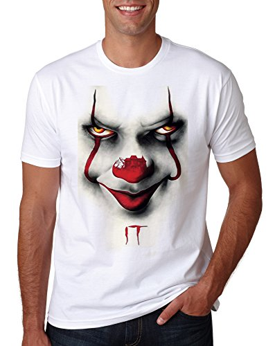 LuckyTshirt Clown King Stephen T Pennywise Float Shirt Tee We All Down Here Horror Tshirt Top Mens Inspired Funny Creepy Scary