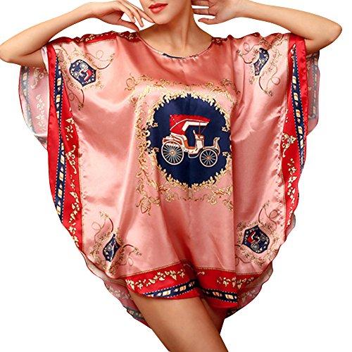 Raso Pigiameria delle Donne Camicia da Notte Indumenti Raso Lingerie Roma Rosso