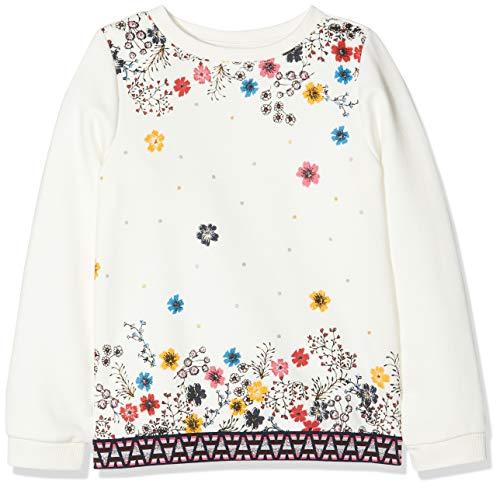 s.Oliver RED Label Mädchen Sweatshirt mit floralem Print Ecru 116/122.REG