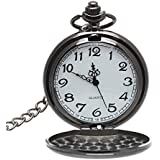 Tenflyer Clásico dial redondo blanco reloj de bolsillo del cuarzo de los hombres del diseño de la cadena dominante suave