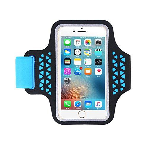 Sportivo sweatproof sportivo portabraccio running portabici per corsa compatibile per jogging, palestra, ciclismo, mountain bike, trekking, equitazione (blu)