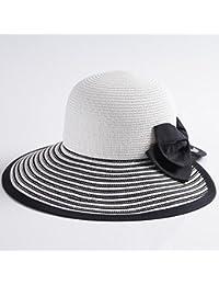 QZ HOME Verano Sra. Sombreros Daqi Sombrero De Paja Aire Libre Gorra De Protección  Solar Viaje Gorro De Playa Sombrero Para El Sol… 74e43dc1b83