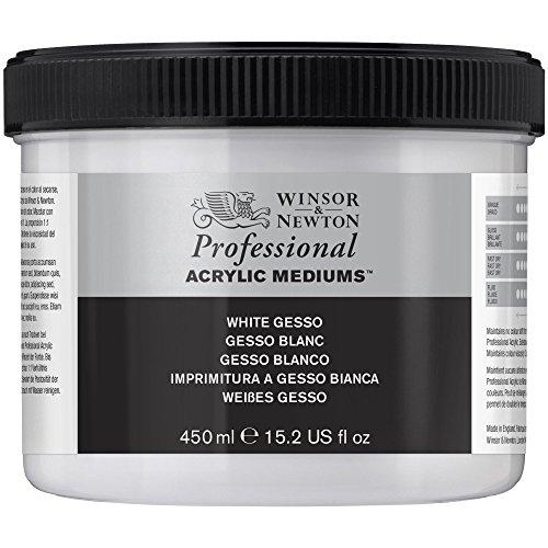 Winsor & Newton 3050920 Weisses Gesso, Grundierung für Acrylfarben, Ölfarben, Alkydfarben - 450ml Topf