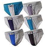 6-12 Slips Herren Unterhosen Männer Slip Unterwäsche in Großen Größen Sportslip Unterhose (4XL, 6.Stück 520), Herstellergröße 11