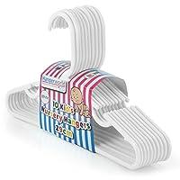Hangerworld White Plastic 29cm Coat Hangers with Trouser/Skirt Bar - For Baby & Toddler Clothes, Pack of 40