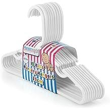 Hangerworld - Perchas De Plástico Para Niños Con Barra, Color Blanco, 29 cm, 80 Unidades