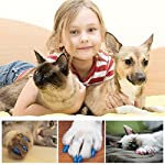 Qiao Niuniu New 20Pcs/Lot Colorful Soft Pet Dog Cats Kitten Paw Claws Control Nail Caps Cover #apowu522# (color: Red… 18