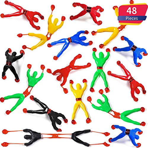 Blulu Fenster Crawler Männer, Mehrfarbig Klebrige Wand Kletterer Rolling Männer Neuheit Dehnbar Klebrige Spielzeug für Party Favor (48 Stücke) (Ninja-crawler)