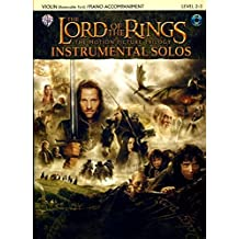 The Lord of the Rings Instrumental Solos (for Strings): Violin (with Piano Acc.), Book & CD