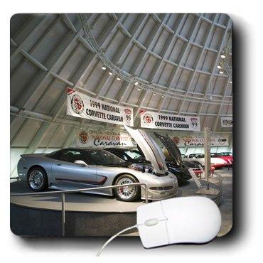 3dRose mp_90447_1 Mauspad, Kentucky, Bowling Green National Corvette Museum, 20,3 x 20,3 x 0,25 Zoll