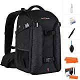 K&F Concept Waterproof Anti-theft Shoulder DSLR Camera Backpack Bag Case With Rain Cover