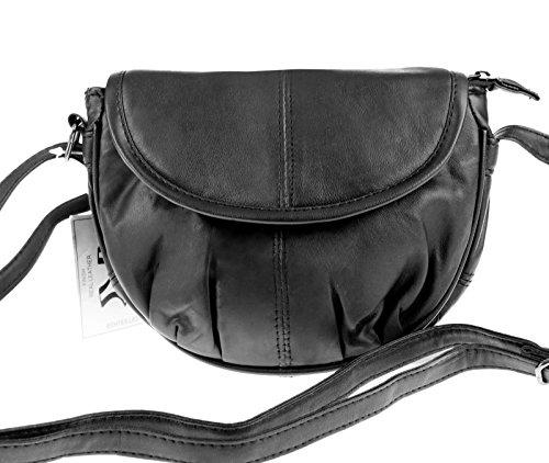 Élégant petit sac à bandoulière en cuir, cuir véritable 18 x 16 cm
