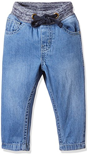 Donuts Baby Boys' Straight Regular Fit Cotton Jeans (272235145 LT-BLUE 06M)