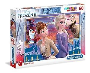 Clementoni 26056 Clementoni-26056-Supercolor Disney Frozen - Puzzle para niños (2-60 Piezas)