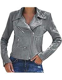 großer Rabatt Fang wie kommt man Suchergebnis auf Amazon.de für: Lederjacke Damen Grau ...