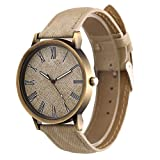 #8: Rrimin Women Dress Wristwatch Men Vintage Top Bracelet Quartz Analog Watch White