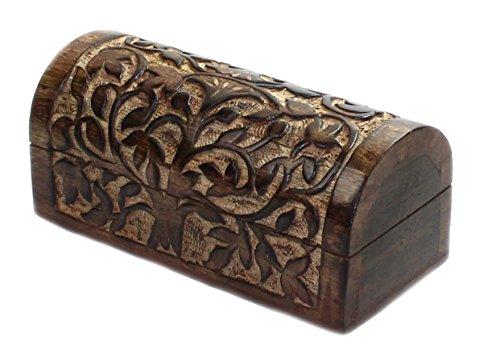 budawi® - Holz Truhe mit Keltischer Lebensbaum Baum des Lebens, Box-Schachtel Schatule Wooden Box (Holz-schachteln)