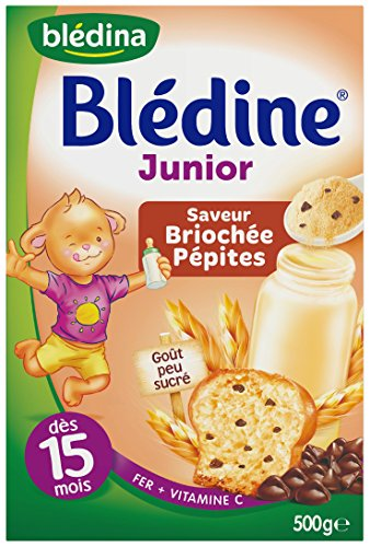 Blédina Blédine Junior Saveur Briochée Pépites dès 15 Mois 500g - lot de 4