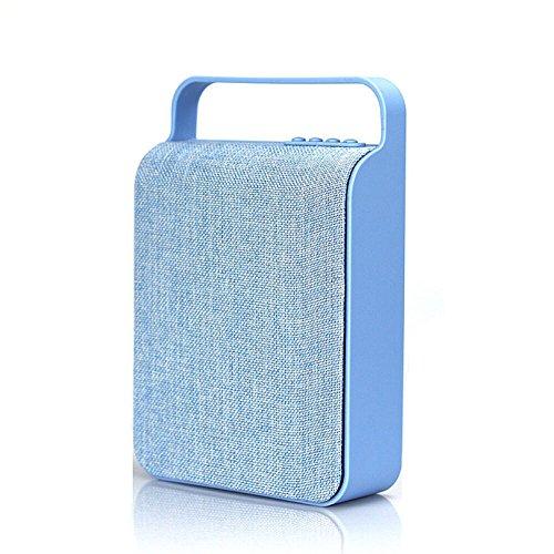 Garyesh Bluetooth Tragbar Kabellos Draussen Stereo Redner Unterstützungs-TF-Karte und U-Scheibe (Blau)