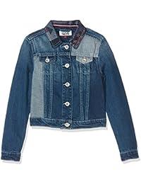 Tommy Hilfiger Thkg Denim Trucker Jacket Pwfl, Chaqueta para Niñas