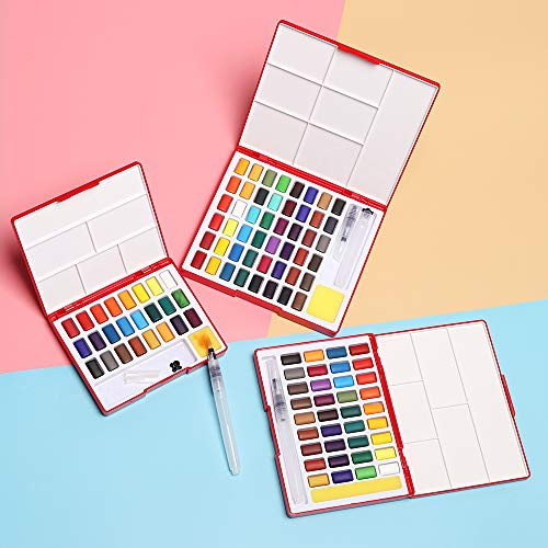 Paint By Number Paint Refills - 1pc 24 36 48colors Solid Watercolor Paint Set Box With Paintbrush Portable Pigment Art - Number Paint Refills Paint Number Refills Acrylic Brushes Watercolor Pro - Print Refill