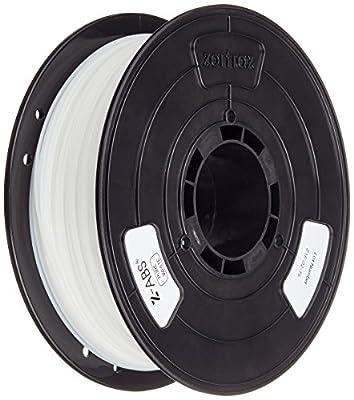 Zotrax 10536 Z-ABS Filament, 1.75 mm, 800 g, Pure White