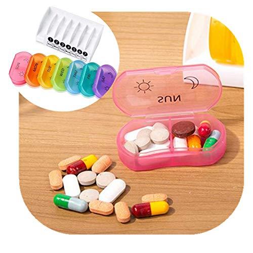 Portapillole per vitamine e integratori organizer per 7 giorni in neoprene