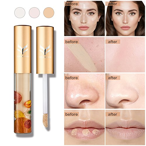FANCY LOVE Creamy Liquid Brush Concealer,0.105 oz (Wheat Color)
