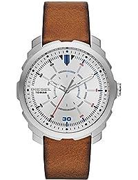 Diesel Herren-Armbanduhr New Logo Analog Quarz Leder DZ1736